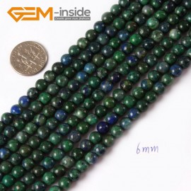 "G4338 6mm Round Gemstone Lapis Lzuli Malachite DIY Jewelry Crafts Making Beads Strand 15"" Natural Stone Beads for Jewelry Making Wholesale"