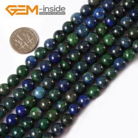 "G4339 8mm Round Gemstone Lapis Lzuli Malachite DIY Jewelry Crafts Making Beads Strand 15"" Natural Stone Beads for Jewelry Making Wholesale"
