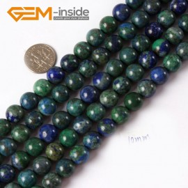 "G4340 10mm Round Gemstone Lapis Lzuli Malachite DIY Jewelry Crafts Making Beads Strand 15"" Natural Stone Beads for Jewelry Making Wholesale"