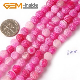"""G4372 8mm Round Frost Gemstone Plum Agate Jewelry Making Stone Beads Strand 15"""" Natural Stone Beads for Jewelry Making Wholesale"""
