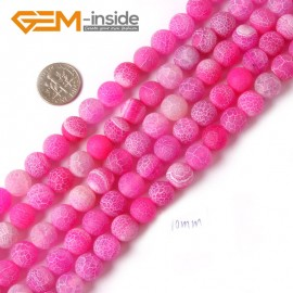 "G4373 10mm Round Frost Gemstone Plum Agate Jewelry Making Stone Beads Strand 15"" Natural Stone Beads for Jewelry Making Wholesale"