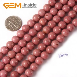 """G4391 8mm Round Smooth Gemstone Rhodochrosite Beads Jewelry Making Loose Beads Strand 15"""" Natural Stone Beads for Jewelry Making Wholesale"""