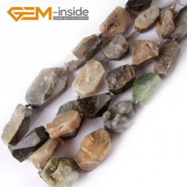 "G4421 prehnite/20-28mmx30-38mm NEW freeform crude gemstone loose beads strand 15""jewelery making beads Natural Stone Beads for Jewelry Making Wholesale"