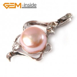 G4581 purple New design 17x29mm cultured pearl white gold plated frame pendant Pendants Fashion Jewelry Jewellery