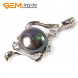 G4583 black New design 17x29mm cultured pearl white gold plated frame pendant Pendants Fashion Jewelry Jewellery