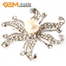 "G4660 white 9-10mm nice freshwater pearl with white gold plated starfish shape brooch 48"" Brooch Pin Fashion Jewelry Jewellery"