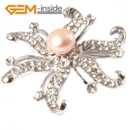 "G4661 purple 9-10mm nice freshwater pearl with white gold plated starfish shape brooch 48"" Brooch Pin Fashion Jewelry Jewellery"