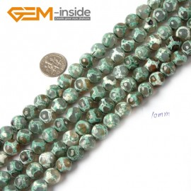 """G4707 Plum 10mm Round Faceted Gemstone Football Color Fire Agate Loose Stone Beads 15"""" Natural Stone Beads for Jewelry Making Wholesale"""