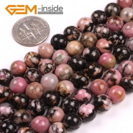 """G5157 8mm Natural Round Black Rhodonite Beads Jewelery Making Gemstone Loose Beads 15""""Natural Stone Beads for Jewelry Making Wholesale"""