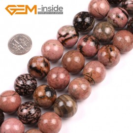 """G5159 16mm Natural Round Black Rhodonite Beads Jewelery Making Gemstone Loose Beads 15""""Natural Stone Beads for Jewelry Making Wholesale"""
