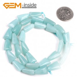 "G5172 8x12mm(blue) Trapezoidal Natural Amazonite Strands 15"" Loose Beads for Jewelry Crafts Making Natural Stone Beads for Jewelry Making Wholesale"