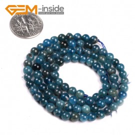 "G5174 4mm Round Gemstone Blue Kyanite Beads Strand 15"" Free Shipping Selectable Size Natural Stone Beads for Jewelry Making Wholesale`"