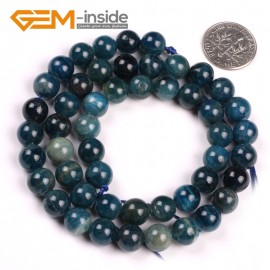 "G5176 8mm Round Gemstone Blue Kyanite Beads Strand 15"" Free Shipping Selectable Size Natural Stone Beads for Jewelry Making Wholesale`"
