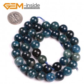 "G5177 10mm Round Gemstone Blue Kyanite Beads Strand 15"" Free Shipping Selectable Size Natural Stone Beads for Jewelry Making Wholesale`"