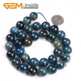 "G5178 12mm Round Gemstone Blue Kyanite Beads Strand 15"" Free Shipping Selectable Size Natural Stone Beads for Jewelry Making Wholesale`"