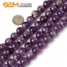 """G5202 12mm Natural Round Dream Lace Amethyst Beads Strand 15""""Jewelry Making Gemstone Beads Natural Stone Beads for Jewelry Making Wholesale`"""