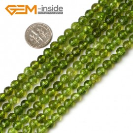 "G5204 6mm Round Faceted Green Peridot Beads Jewelry Making Loose Beads15"" Free Shipping Natural Stone Beads for Jewelry Making Wholesale`"