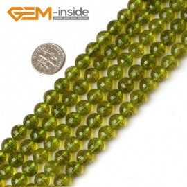 "G5205 8mm Round Faceted Green Peridot Beads Jewelry Making Loose Beads15"" Free Shipping Natural Stone Beads for Jewelry Making Wholesale`"