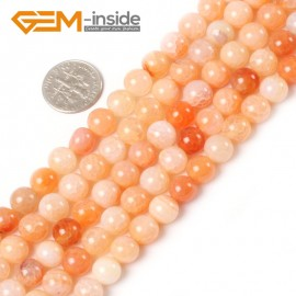 "G5400 8mm Round Crackle Pink Agate Gemstone Beads Strand 15"" Free Shipping Selectable Size Natural Stone Beads for Jewelry Making Wholesale`"