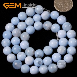 "G5416 8mm Natural Round Sky Blue Agate Beads Jewelry Making Gemston Beads15""Free Shipping Natural Stone Beads for Jewelry Making Wholesale`"