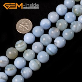 """G5417 12mm Natural Round Sky Blue Agate Beads Jewelry Making Gemston Beads15""""Free Shipping Natural Stone Beads for Jewelry Making Wholesale`"""