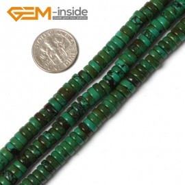 "G5475 2x6mm Natural Rondelle Gemstone Old Turquoise Jewelry Making Loose Beads strand 15"" Natural Stone Beads for Jewelry Making Wholesale"