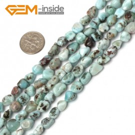 "G5932 NEW 7-8mm freeform mixed color larimar gemstone beads strand 15"" G-Beads Natural Stone Beads for Jewelry Making Wholesale"