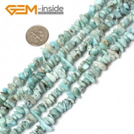 "G5933 6-8mm Pure Larimar Multi-Color Chips Gemstone Loose Beads Strand 15""& 34"" Free Shipping Natural Stone Beads for Jewelry Making Wholesale"