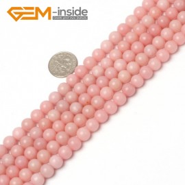 "G5935 8mm Natural Round Pink Opal Beads Jewelry Making Gemstone Loose Beads Strand 15"" Natural Stone Beads for Jewelry Making Wholesale"