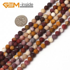 "G5939 6mm Natural Round Frost Matte Mookaite Jasper Beads Strand 15"" 6mm 8mm 10mm 12mm Natural Stone Beads for Jewelry Making Wholesale`"