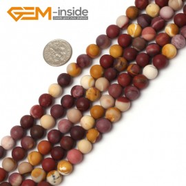 "G5940 8mm Natural Round Frost Matte Mookaite Jasper Beads Strand 15"" 6mm 8mm 10mm 12mm Natural Stone Beads for Jewelry Making Wholesale`"