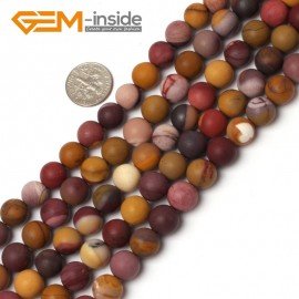 "G5941 10mm Natural Round Frost Matte Mookaite Jasper Beads Strand 15"" 6mm 8mm 10mm 12mm Natural Stone Beads for Jewelry Making Wholesale`"