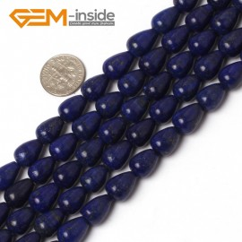 "G5948 8x12mm Drop Gemstone  Blue Lapis Lazuli Beads DIY Crafts Making Loose Beads Strand 15"" Natural Stone Beads for Jewelry Making Wholesale"