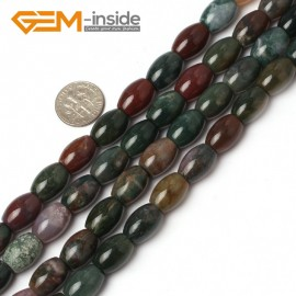 """G5949 10x14mm Olivary Gemstone Indian Agate Loose Beads Gemstone Strands 15"""" Jewelery Making Natural Stone Beads for Jewelry Making Wholesale"""