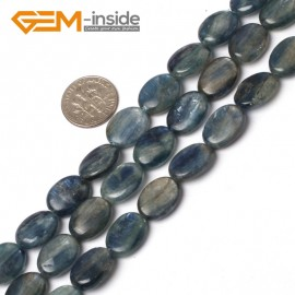 "G5971 11x15mm Oval Natural Blue Kyanite Beads Jewelry Making Gemstone Beads 15""Free Shipping Natural Stone Beads for Jewelry Making Wholesale`"