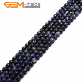 """G6948 4mm Round Faceted Gemstone Sodalite Jewelry Making Loose Beads Strand 15"""" Natural Stone Beads for Jewelry Making Wholesale"""