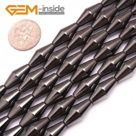"G7992 8x16mm Rhombus Many Kinds Of Black Magnetic Hematite Gemstone Jewelry Making Loose Beads 15"" Natural Stone Beads for Jewelry Making Wholesale`"