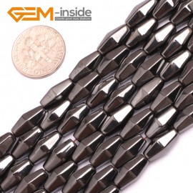 "G7993 6x12mm Rhombus Many Kinds Of Black Magnetic Hematite Gemstone Jewelry Making Loose Beads 15"" Natural Stone Beads for Jewelry Making Wholesale`"
