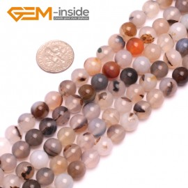 """G8187 8mm Natural Round Gemstone Gray Banded Agate Beads Jewelry Making Loose Beads15"""" Natural Stone Beads for Jewelry Making Wholesale"""