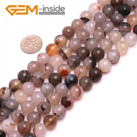 """G8188 10mm Natural Round Gemstone Gray Banded Agate Beads Jewelry Making Loose Beads15"""" Natural Stone Beads for Jewelry Making Wholesale"""
