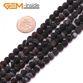 "G8200 Black 6mm Round Gemstone Frost Matte Agate DIY Jewelry Making Beads 15""6-14mm Pick Colors Natural Stone Beads for Jewelry Making Wholesale"