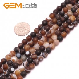 """G8201 Gray 6mm Round Gemstone Frost Matte Agate DIY Jewelry Making Beads 15""""6-14mm Pick Colors Natural Stone Beads for Jewelry Making Wholesale"""