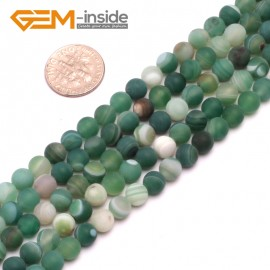 """G8206 Green 6mm Round Gemstone Frost Matte Agate DIY Jewelry Making Beads 15""""6-14mm Pick Colors Natural Stone Beads for Jewelry Making Wholesale"""