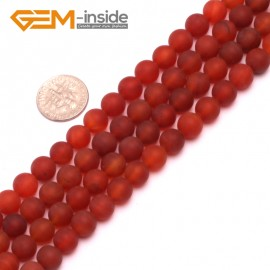 "G8215 Red 8mm Round Gemstone Frost Matte Agate DIY Jewelry Making Beads 15""6-14mm Pick Colors Natural Stone Beads for Jewelry Making Wholesale"