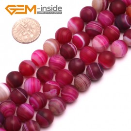 "G8220 Plum 10mm Round Gemstone Frost Matte Agate DIY Jewelry Making Beads 15""6-14mm Pick Colors Natural Stone Beads for Jewelry Making Wholesale"