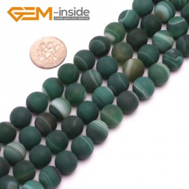 "G8224 Green 10mm Round Gemstone Frost Matte Agate DIY Jewelry Making Beads 15""6-14mm Pick Colors Natural Stone Beads for Jewelry Making Wholesale"