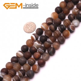 "G8226 Gray 10mm Round Gemstone Frost Matte Agate DIY Jewelry Making Beads 15""6-14mm Pick Colors Natural Stone Beads for Jewelry Making Wholesale"