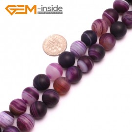 """G8231 Purple 12mm Round Gemstone Frost Matte Agate DIY Jewelry Making Beads 15""""6-14mm Pick Colors Natural Stone Beads for Jewelry Making Wholesale"""