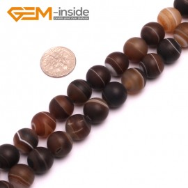 """G8236 Gray 12mm Round Gemstone Frost Matte Agate DIY Jewelry Making Beads 15""""6-14mm Pick Colors Natural Stone Beads for Jewelry Making Wholesale"""