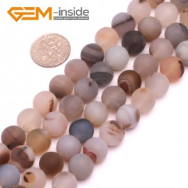 """G8240 10mm Round Frost Gemstone Botswana Agate DIY Jewelry Crafts Making Beads15"""" Natural Stone Beads for Jewelry Making Wholesale"""